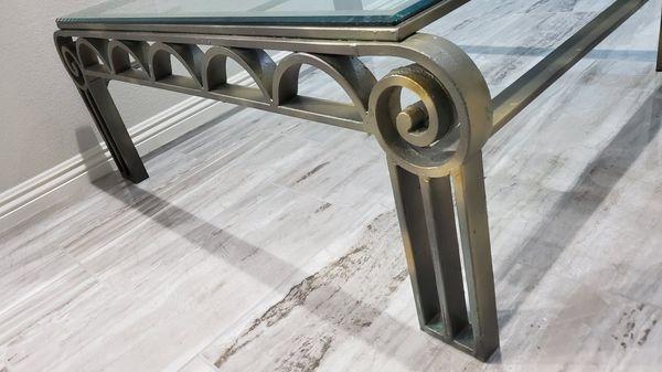 Bronze glass coffee table