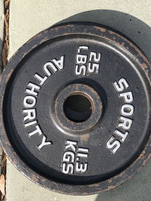 Multiple pairs of 25lbs Olympic weight plates for Sale in Tampa, FL