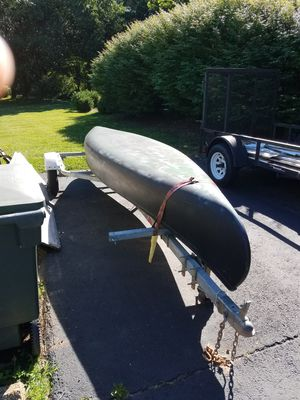 15 ft. Fiberglass canoe with trailer for Sale in Charlottesville, VA
