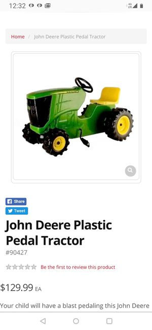 Plastic padel John Deere tractor for Sale in Los Angeles, CA