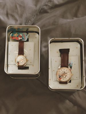 Walt Disney World 25th Anniversary Sorcerer Mickey Leather His&Hers watches for Sale in Nutley, NJ