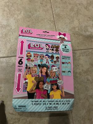 LOL photo booth backdrop and props NEW !! for Sale in Chula Vista, CA