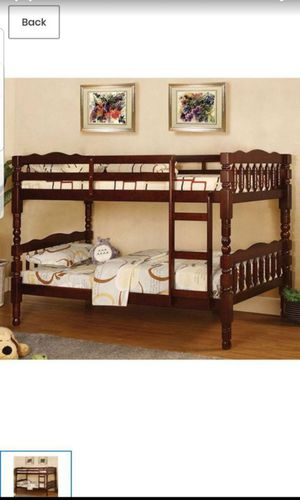 BRAND NEW TWIN TWIN BUNK BED ADD MATTRESS TWIN AND FULL ADD FURNITURE AVAILABLE LITERA INDIVIDUAL MATRIMONIAL for Sale in Montclair, CA