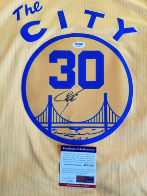 Stephen Curry Signed Golden State Warriors Adidas City Jersey w/ Beckett COA NBA for Sale in Hayward, CA