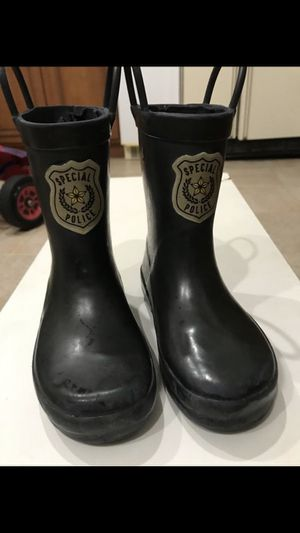 Boy police rain boot size 10 for Sale in Virginia Beach, VA