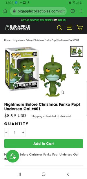 Nightmare Before Christmas Funko Pop! Undersea Gal #601 for Sale in Olmsted Falls, OH
