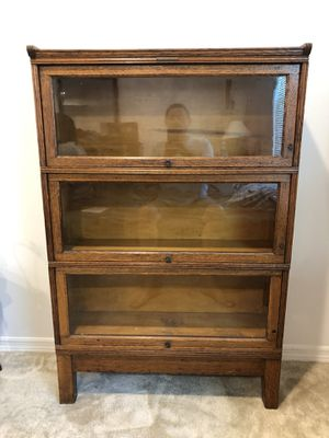 Vintage Antique Yawman and Erbe mfg co. 3 Section OAK grain book shelf barista for Sale in Davenport, FL