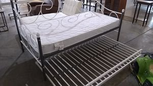 Daybed bunk bed with mattress twin bed for Sale in Dallas, TX