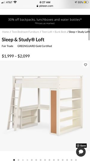 Pottery Barn teen loft bed for Sale in Dana Point, CA