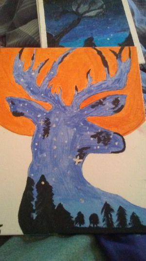 Night sky deer. Blood moon for Sale in West Monroe, LA