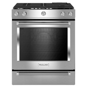 KitchenAid 5.8 cu. ft. Slide-In Gas Stove Stainless Steel Range Hood Included for Sale in Hazard, CA