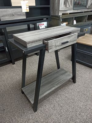 Console Table with One Drawer, Distressed Grey for Sale in Norwalk, CA