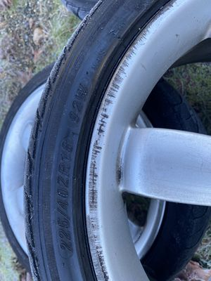 18 inch rims and tires they came off a Mazda b2200 think there from a Nissan Titan not sure for Sale in Puyallup, WA
