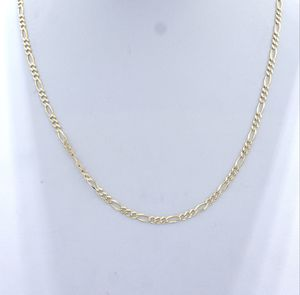 "14K Gold White Paved Figaro Link Chain, 20"" Long and Only $450 for Sale in Los Angeles, CA"