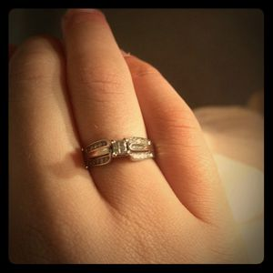 Solid white gold engagement ring for Sale in Johnson City, TN