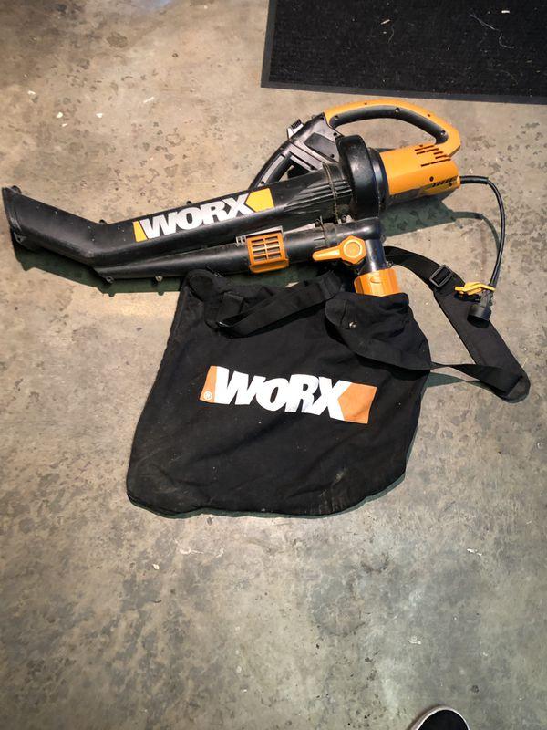 Worx leaf blower electric cord plug