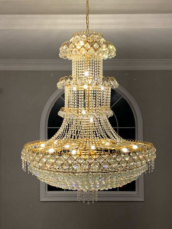 3 Tier Crystal Chandelier - BRAND NEW IN BOX
