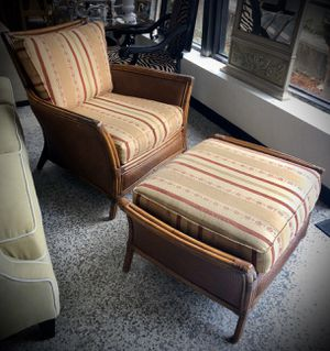 Rattan chair and ottoman for Sale in Longwood, FL