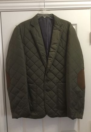 New ALAN FLUSSER Quilted Insulated Coat Jacket Elbow Patch Sz Large, Retail $255 for Sale in McKinney, TX