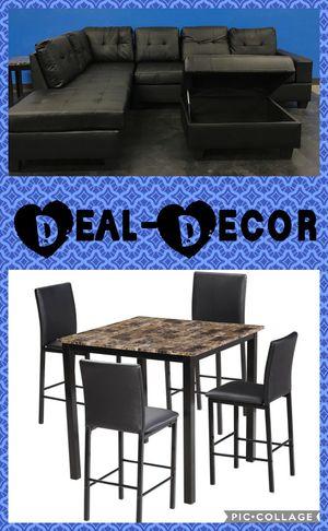 Black 2 Room Combo Set for Sale in Marietta, GA