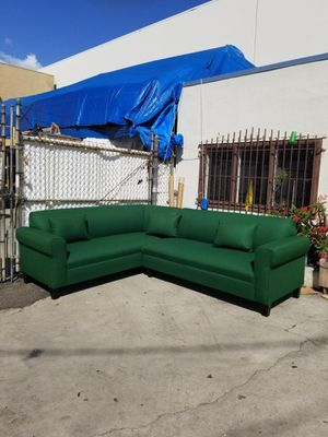 NEW 7X9FT EMERALD GREEN FABRIC SECTIONAL COUCHES for Sale in Yucca Valley, CA