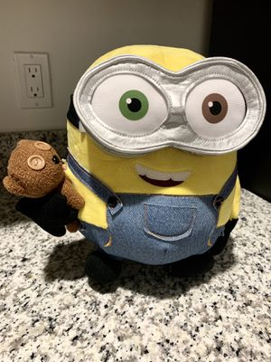 Brand New - Despicable Me - Minions: Bob Plush Toy With Teddy Bear Universal Studios Souvenir for Sale in Fort Lauderdale, FL