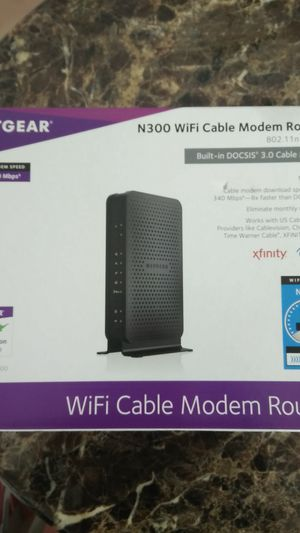 Netgear N300 WiFi Cable Modem Router for Sale in San Angelo, TX