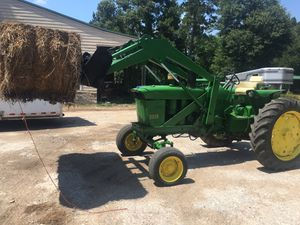 55 hp John deer diesel tractor with loader drives out great. Just turn the key and go work. for Sale in Hockley, TX