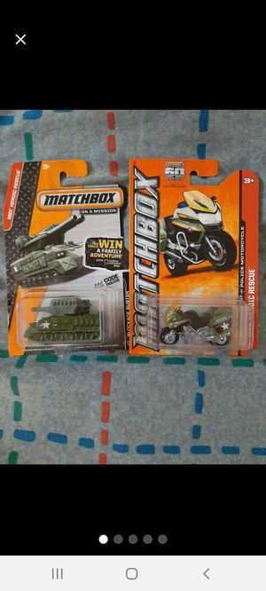 Matchbox _ARMY_ Tank & Motorcycle ●□● for Sale in Williamsport, PA