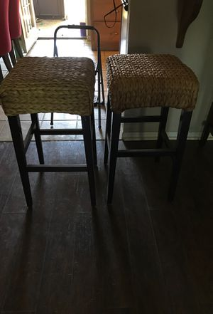 Wicker bar stools for Sale in Huffman, TX