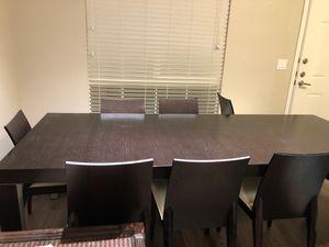 Beautiful minimalist dining set 8 people for Sale in Rancho Cucamonga, CA