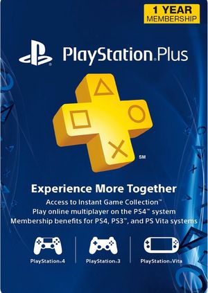 Plus 1-Year PlayStation Plus Membership (PS+) - PS3/PS4/PS Vita Digital Code (USA) for Sale in Dearborn, MI