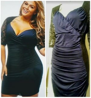 Midnight Blue & Black Lace Party Dress for Sale in Whittier, CA