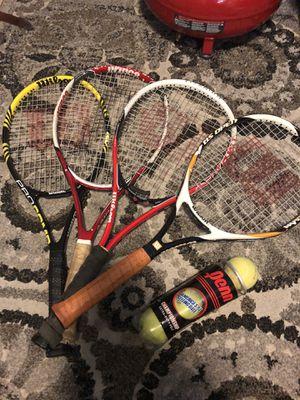 Tennis rackets & Tennis balls for Sale in Dallas, TX