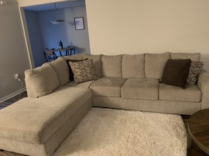 Light colored sectional. Fairly new, purchased in September for Sale in Dothan, AL