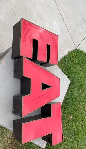 Marquee letters EAT for Sale in Ontario, CA