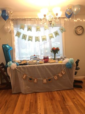 Beautiful Baby BOY first birthday party decorations/ Smash party Supplies for Sale in Seattle, WA