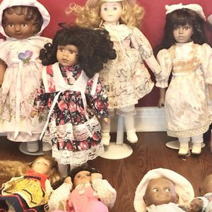 Vintage Porcelain Dolls And Barbie for Sale in Tomball, TX