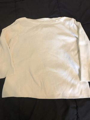 Worthington petite large ribbed 3/4 sleeve sweater white for Sale in Taylors, SC