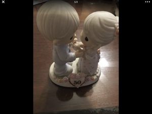 2003 Collectible Precious Moments 50th Anniversary Forever Young Porcelain display for Sale in Pasadena, CA