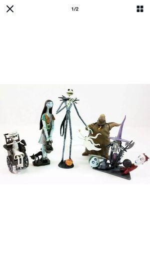 Jun Planning Nightmare Before Christmas Trading Figures Series 1 Set Of 6. for Sale in San Gabriel, CA