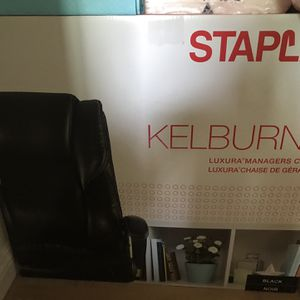 Brand NewStaples Kelburne Luxura Faux Leather Computer and Desk Chair, Black for Sale in Montebello, CA