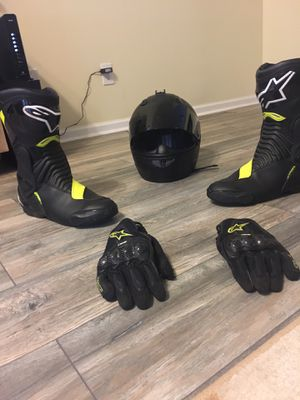 Motorcycle Gear ( Boots, Helmet, Gloves) for Sale in Mableton, GA