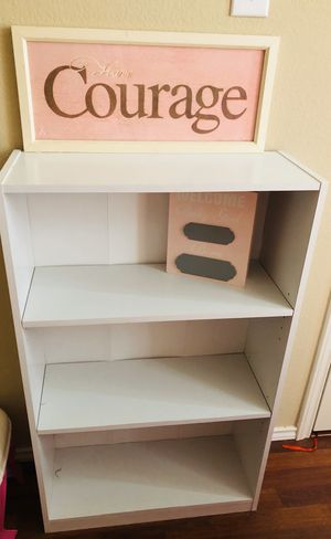 White wood bookcase for Sale in Leander, TX