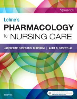 Lehne's Pharmacology for Nursing Care 10th edition by Jacqueline Rosenjack Burchum Laura Rosenthal 9780323512275 eBook PDF Free edition for Sale in City of Industry,  CA
