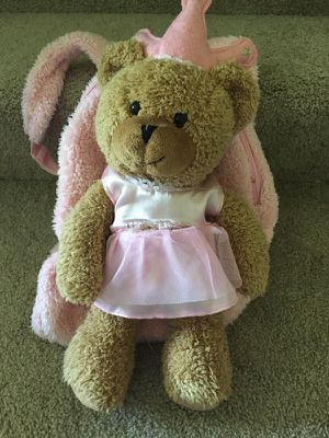 Stuffed princess bear back pack for Sale in Plymouth, MN