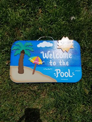 New Pool sign from a craft show for Sale in Garden City, MI