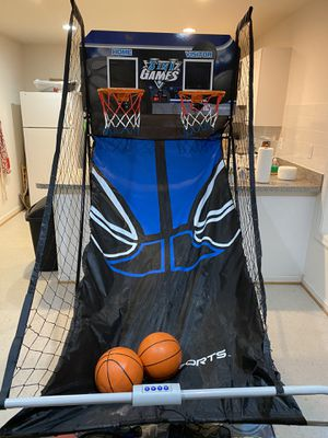 3-in-1 Sports Zone-Dual Basketball Hoops and Throwing Net for Sale in Lorton, VA