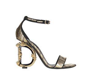 Women's Dolce & Gabbana Sculpted Heel Sandal. ( Gold) for Sale in Philadelphia, PA