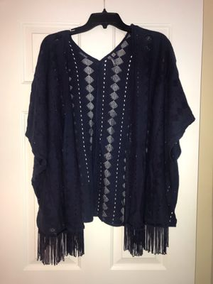 Women's small bohemian navy cardigan for Sale in Carrboro, NC